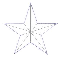 Как нарисовать звезду поэтапно в 5 шагов 6