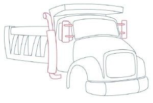 Как рисовать машины. Самосвал поэтапно в 11 шагов 7