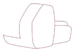 Как нарисовать машины. Экскаватор поэтапно в 11 шагов 2