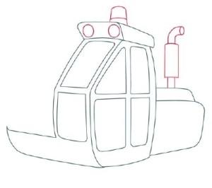 Как нарисовать машины. Экскаватор поэтапно в 11 шагов 4