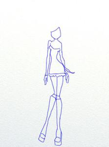 Как нарисовать Винкс поэтапно в 7 шагов 4