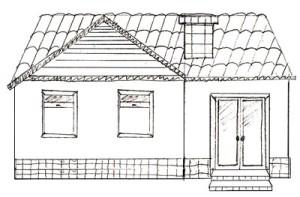 Как нарисовать Дом поэтапно в 5 шагов 1