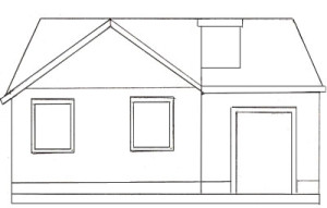 Как нарисовать Дом поэтапно в 5 шагов 5