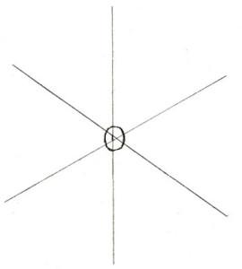 Как нарисовать Снежинку поэтапно в 5 шагов 2
