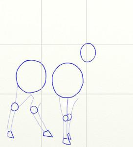 Как нарисовать Оленя поэтапно в 6 шагов 2