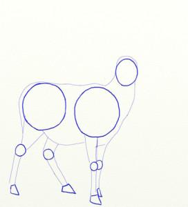 Как нарисовать Оленя поэтапно в 6 шагов 3